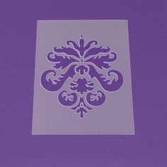 Schablone A3 Damask Ornament Palmette Barock -LO45 von Lunatik-Style via dawanda.com