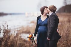 Fall Wedding in Sweden by Love Birds Photography, Singapore. Pregnant bride.