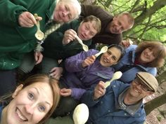 We made 6 spoons and 6 happy faces today at our Intro to Spoons Carving event!