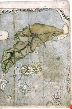 Greenland, Iceland, and Frisland on the Gerardus Mercator world map of 1569