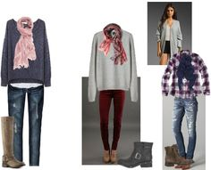 ShopStyle: Skinny Jeans, Big Sweaters, and Scarves by MacKenzieMitchell