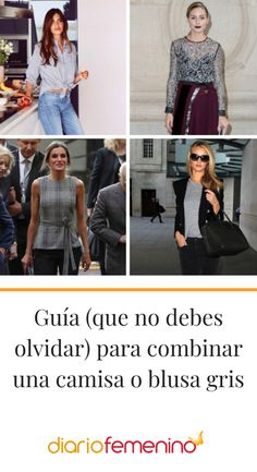 Manual de estilo para lucir perfecta una camisa de color gris 👚 #look #moda #outfit #DiarioFemenino Outfits, Grey Top, Grey Colors, Polka Dots, Outfit, Suits, Clothes, Kleding, Style