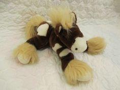 Animal Alley Brown White Stuffed Horse Pony Toys R Us EUC Soft Plush #AnimalAlley