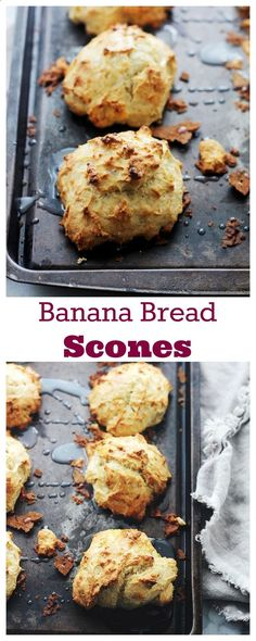 Banana Bread Scones Banana Bread Scones   http://www.diethood.com   The sweet and delicious taste of Banana Bread in a Scone! Check out more recipes like this! Visit yumpinrecipes.com/
