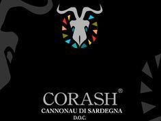 CORASH. Terre del Sinis Linea. Studio grafica etichetta Cantina della Vernaccia. © KLS