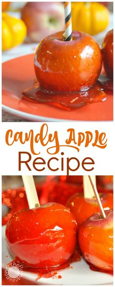 Try these delicious Candy Apples! Recipe to make with the kids! The ...