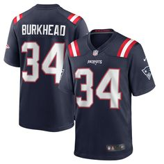 Capture your team's distinct identity when you grab this New England Patriots Rex Burkhead Game Jersey from Nike. It features classic New England Patriots graphics to show who you support. Before you head to the next New England Patriots game, grab this incredible jersey so everyone knows your fandom is on full display. New England Patriots Game, Tedy Bruschi, James White, Team Games, Color Games, Nike Nfl, Nike Women