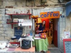 ifat in her little coffee and juice place