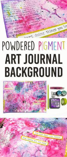 Brushos and Magicals Art Journal Background Technique - Mixed Media Art Journal