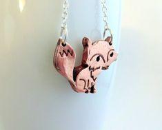 Copper Fox Necklace Fox Jewellery Fox Pendant by ShineOnShopUK