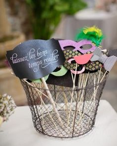 Handmade photo booth props for your wedding reception