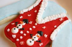 "ugly sweater cookie  Needing ideas for a FUN Ugly Christmas Sweater Party check out ""The How to Party In An Ugly Christmas Sweater"" at Amazon.com"