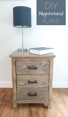 DIY Nightstand | build this 3 drawer bedside table with plans from Bitterroot DIY