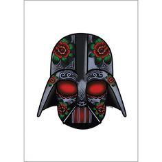 The Dark One Sugar Skull A4 Print - Jubly-Umph - Print,