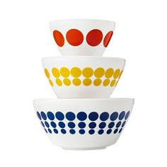 Pyrex Vintage Charm Spot On 3 Piece Mixing Bowl Set inspired by Pyrex *** You can find out more details at the link of the image.