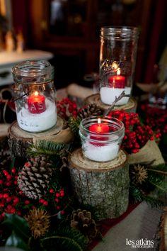 Natural Christmas decorations Wooden Christmas decorations epson salt as snow pine Christmas Burlap Christmas
