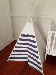 Items similar to Gender neutral Tepee/ teepee including poles. Ready to ship. on Etsy Gender Neutral, Kids Rooms, Nest, Feather, Ship, Home Decor, Nest Box, Decoration Home, Room Decor