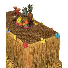 luau table decorations