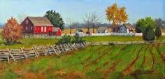 "Daily Paintworks - ""Autumn on the Henry Spangler Farm An Original Oil Painting by Claire Beadon Carnell"" - Original Fine Art for Sale - © Claire Beadon Carnell"