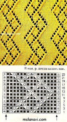 Knitting Charts, Lace Knitting, Knitting Stitches, Knitting Patterns, Knit Crochet, Lace Design, Hobbies And Crafts, Stitch Patterns, Weaving