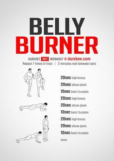 Belly Burner Workout - Tap the link to shop on our official online store! You can also join our affiliate and/or rewards programs for FREE! #Gym