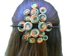 Popular items for stick barrette on Etsy - looks like wrapped wire?