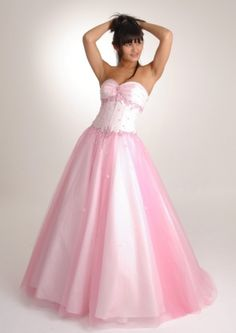 Pink Long/Floor-length Natural Tulle Light Prom Dress PD2648
