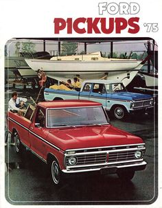"1975Ford Pickup Truck brochure new ""super cab"""