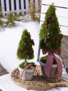 Niedliche Weihnachtsdeko für den Garten. Noch mehr Ideen gibt es auf ...
