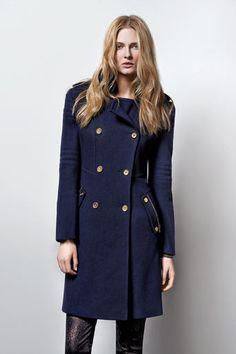 Navy Blue Military Coat