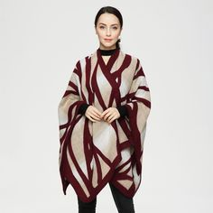 Original Price US $17.99 Sale Price US $16.19 Oversized Zebra Poncho Sweater Cardigan 2016 Olivia Palermo Runway Catwalk Street Knitted Cape Shawl Women Lady Scarf it! lessons from the oscars #sweaters-cardigans