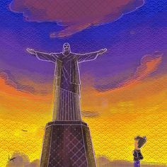 With open arms, he invites us, to see the light in our being. With closed minds we oblige, seeking him instead of that light. -@sankirtgalande .    Guys checkout @jims.daily 😃 where me and my friend have been putting up some interesting content.    Christ the redeemer #christtheredeemer #7wonders #illustration #brazil #undertenminutes #travel #art🎨 #world #instadaily #instaarts #quicksketch #religion #atheism #jimsdaily #wordporn #comics
