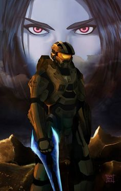 Master Chief & Cortana - HALO she is more than a memory. Cortana Halo, Master Chief And Cortana, Halo Master Chief, Halo Game, Halo 3, Halo Reach, Odst Halo, Halo Armor, Halo Spartan