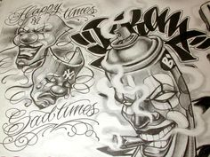 Free+Tattoo+Flash+Sheets | Boog Cartoon Gangster Chicano Tattoo Mister Flash Book | eBay