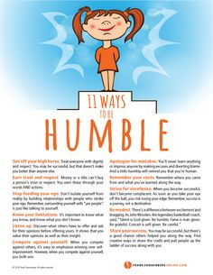 11 Ways to Be Humble I www.FrankSonnenbergOnline.com