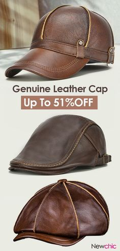 Genuine Leather Cap mensfashion leather cap is part of Leather hats - Leather Hats, Leather Craft, Leather Men, Real Leather, Style Masculin, Things To Buy, Stuff To Buy, Leather Projects, Cool Hats