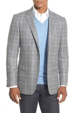 $795, Hart Schaffner Marx New York Classic Fit Plaid Wool Sport Coat. Sold by Nordstrom. Click for more info: https://lookastic.com/men/shop_items/387028/redirect