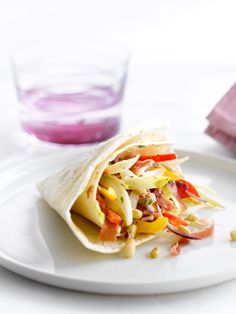 Tortilla met witloof, ham en paprika