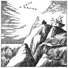 Moomin – wall murals, wallpapers, and canvas prints – Photowall Next Wall Art, Moomin Tattoo, Moomin Wallpaper, Moomin Books, Tove Jansson, Moomin Valley, Hobgoblin, Children's Book Illustration, Book Illustrations