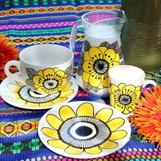 Draw on dollar-store dishes to make your own Marimekko-inspired set. | 21 Easy DIY Projects To Decorate Your Grown Up Apartment