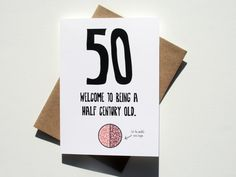Funny 50th Birthday Card By NoCoastPaperCo Cards