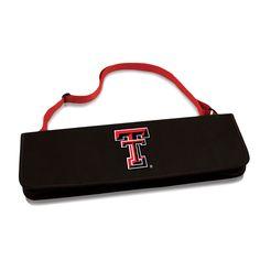 Texas Tech Red Raiders 'Metro' BBQ Tote & 3-Pc Tool Set-Red Digital Print