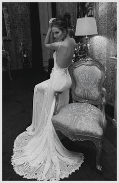 Lace, backless... Sexy, sensual, feminine, and classic