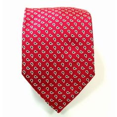 Red paisley pattern tie