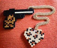 pistola leopardo - corazón leopardo