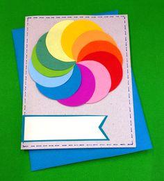 Colorful easy DIY card