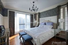 Simple European bedroom decoration design effect chart greatly entire