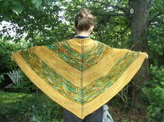 Knitting pattern: Crazy for Caramel shawl by Yarn Diet/Mary E Rose for sale on Ravelry