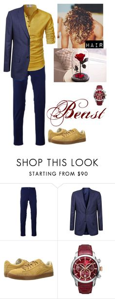 """""""Beauty and the Beast #2"""" by hemmo1996k ❤ liked on Polyvore featuring Re-HasH, Gieves & Hawkes, Puma, Allurez, men's fashion and menswear"""