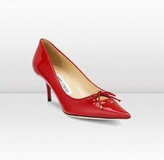 06e273e374c7 Jimmy Choo Owlet Patent Leather Heels Red